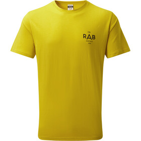 Rab Stance Geo - T-shirt manches courtes Homme - jaune